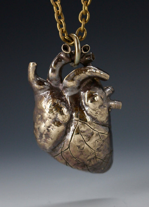 Anatomical Heart Pendant with surprise in back