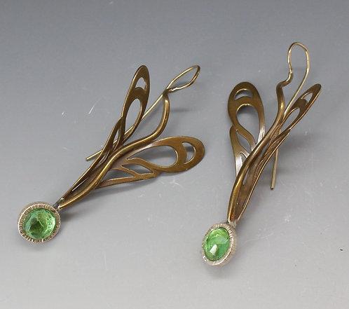 Damselfly earrings