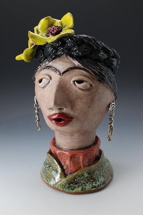 Frida Khalo Face Pot