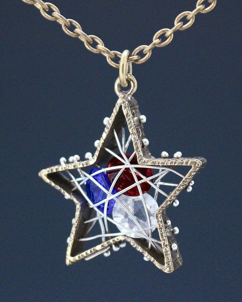 Caged Star Pendant