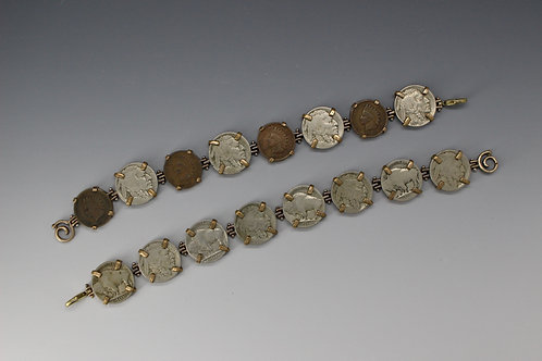 Penny/Nickel Combination Coin Bracelet