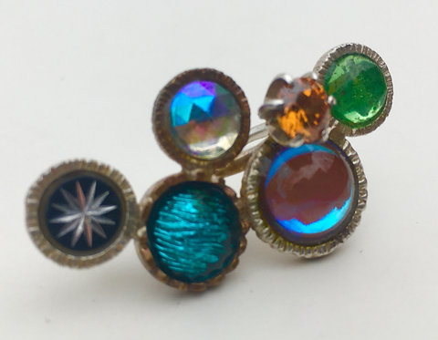 eclectic multi-stone ring