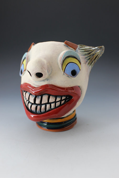 Clown Face Pot