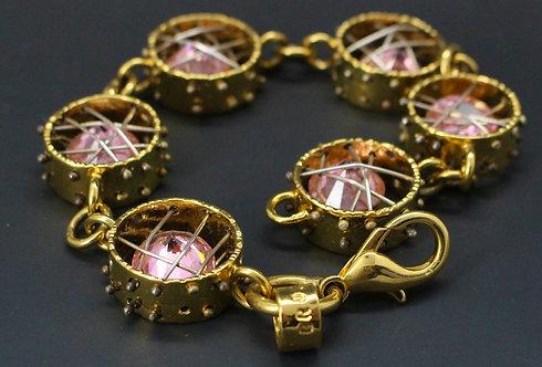 Crystal Cage Bracelet Vermeil