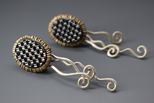 Vintage stone swirly earrings