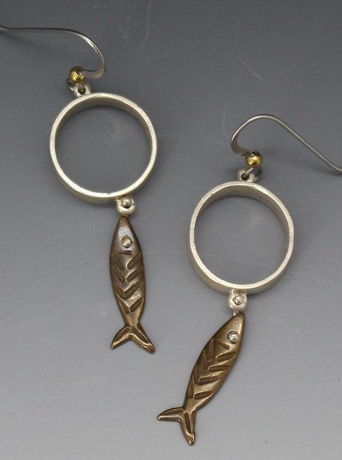 Sardine earrings