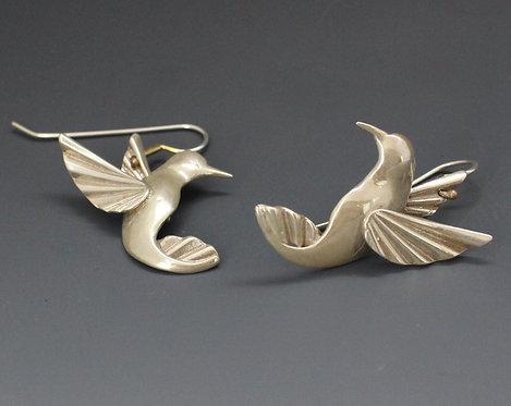 Hummingbird earrings STERLING pair