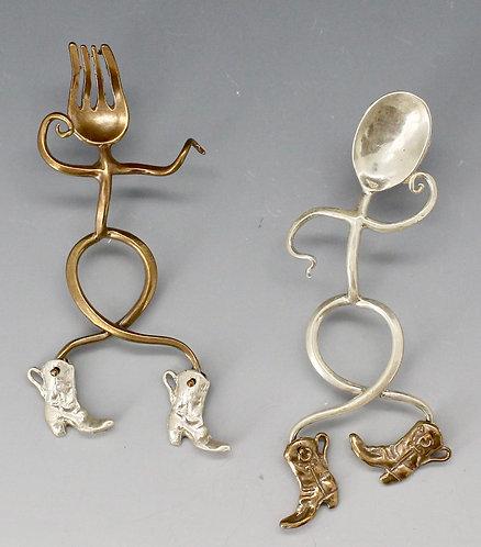 The Flatware Two Step earrings