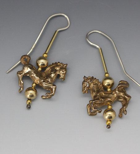 Carousel Horse Earrings