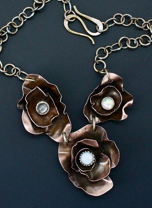 Peony Copper Necklace Trio