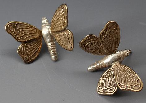 Penni the Purple Hairstreak Earrings (bronze wings)