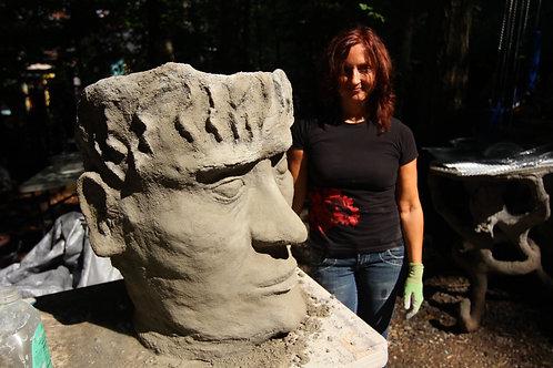 """Cement Sculpting-Create a """"head"""" planter September 4-6, 2021"""