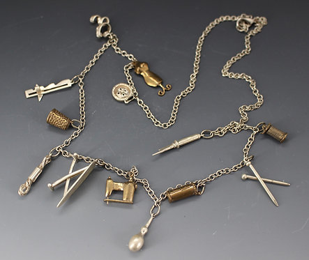Sewing Charm Necklace
