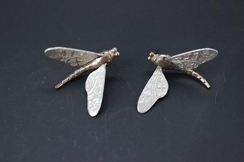 Mayfly earrings posts