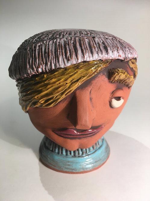 French Fisherman Face Pot