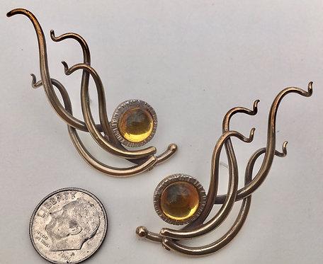 Hollywood Vines earrings Bronze