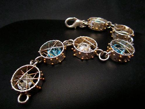 Round Crystal Cage Bracelet
