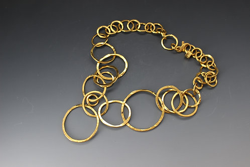 Loopy Necklace gold plate
