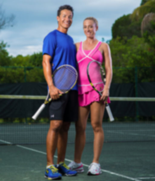 Alberto & Kristi Gutierrez Specializing in tennis and fitness training for adults, children, and kids for all levels.