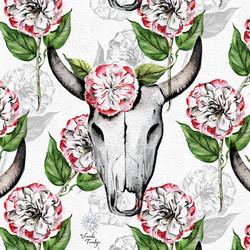 Cow Skull Camellias © SandieT