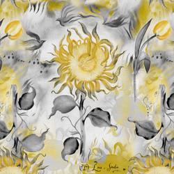 Sunflower Tulip Jaune @ Sandie Turchyn