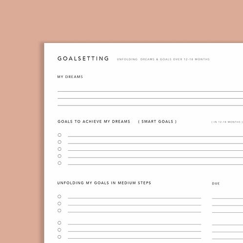 Goalsetting worksheet