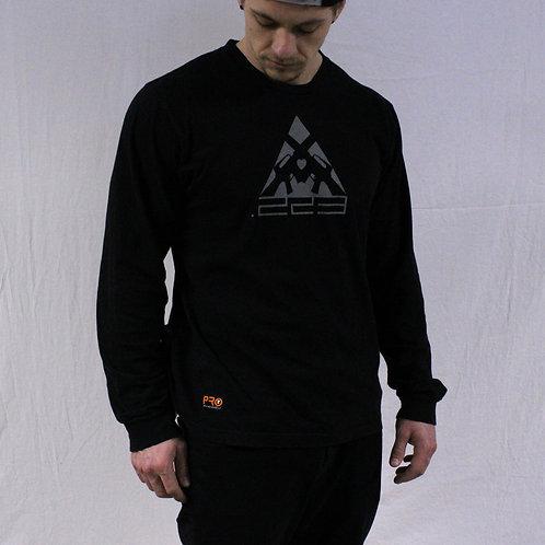 223 Premium L/S Black + Silver