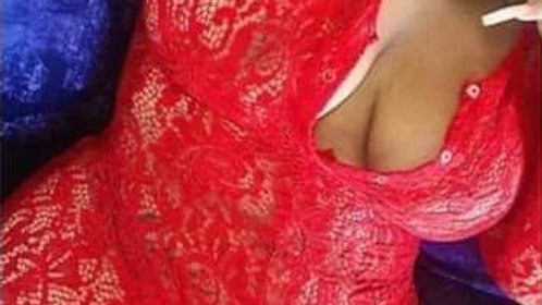 Red ♥️ Lace onesie