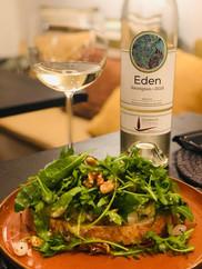 Sourdough Toast with Gorgonzola-Rucola-Walnuts & Eden