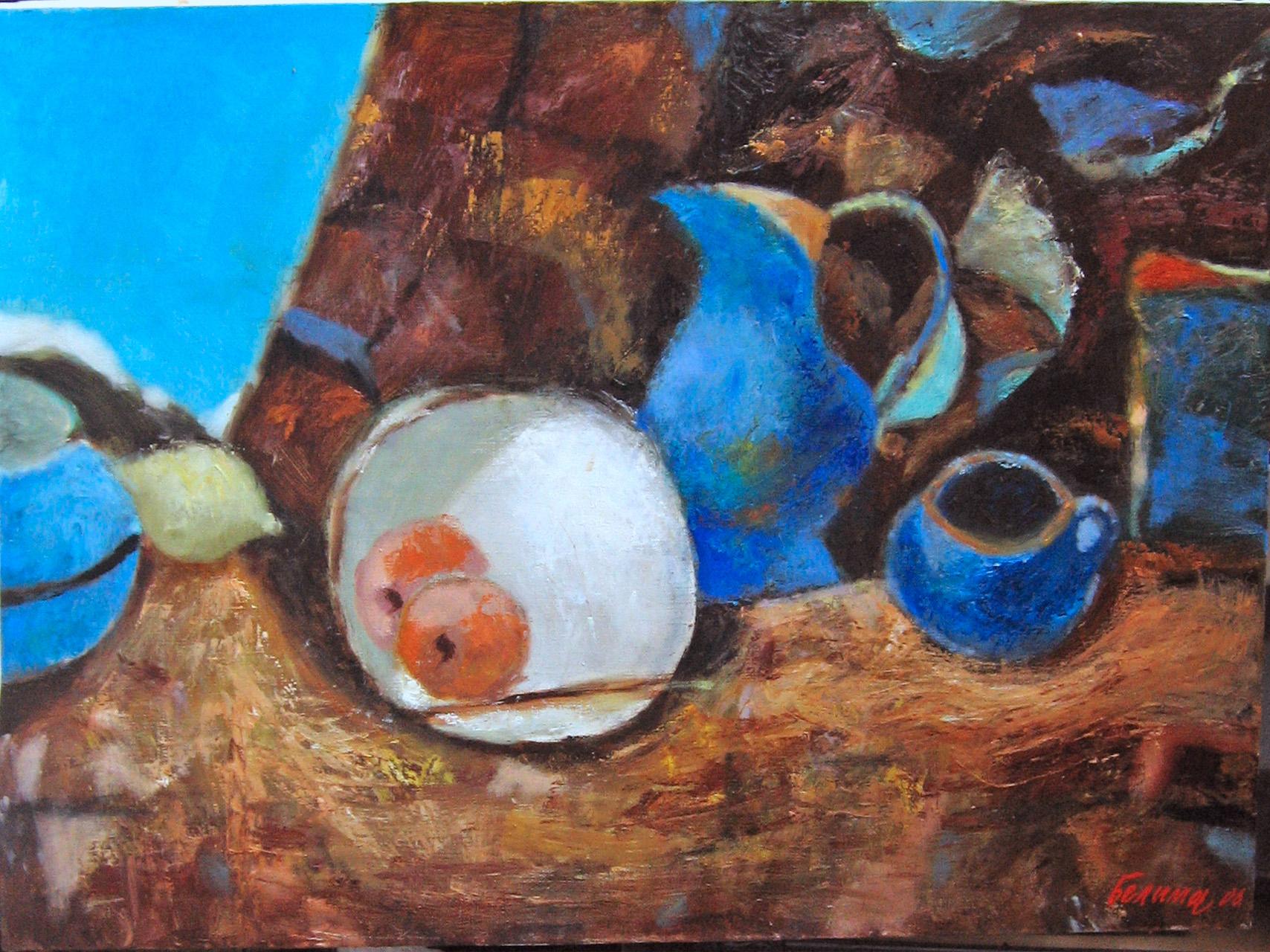 Натюрморт с синим кувшином 60х80
