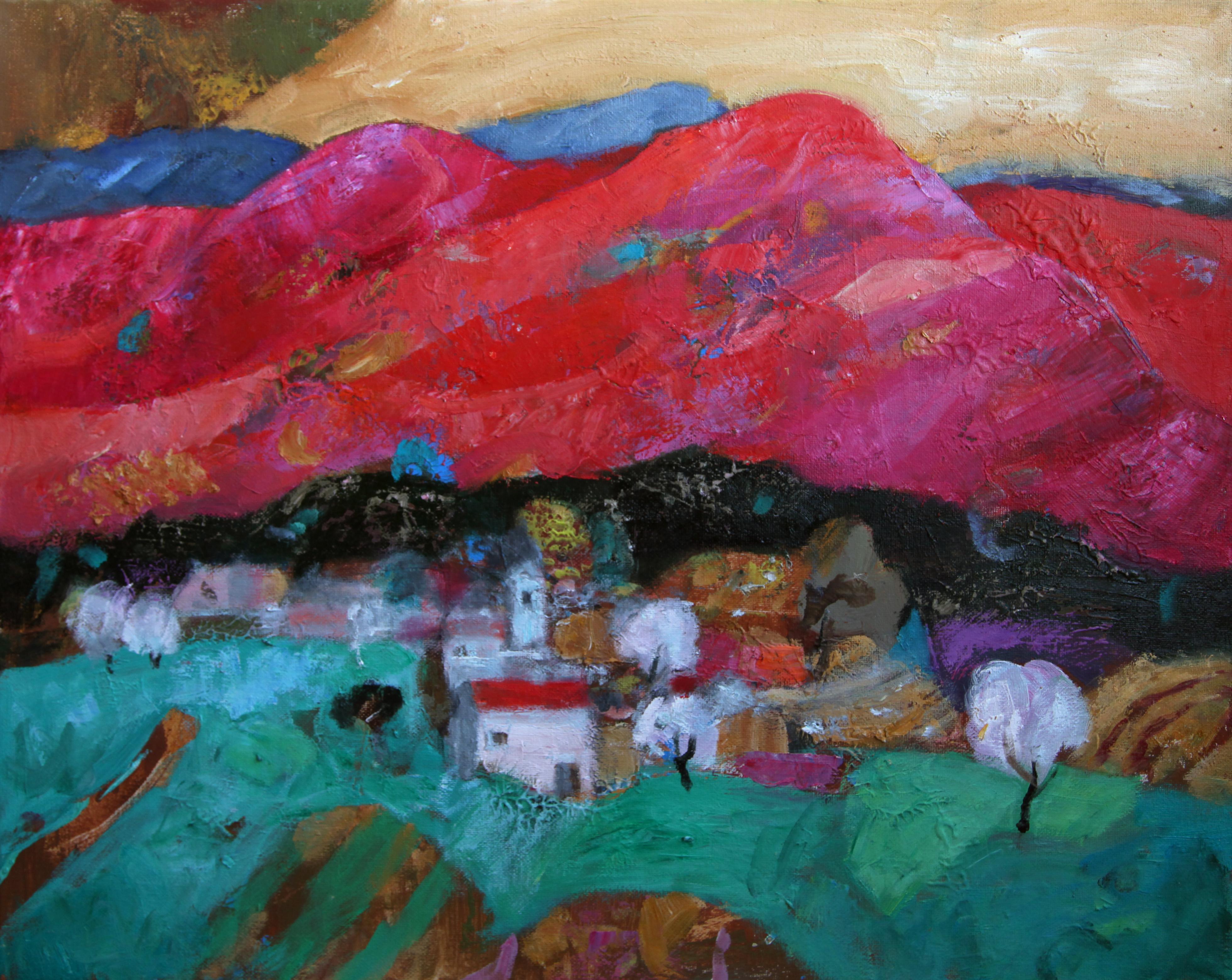 Красные горы 2015 г. х.м. 50х40