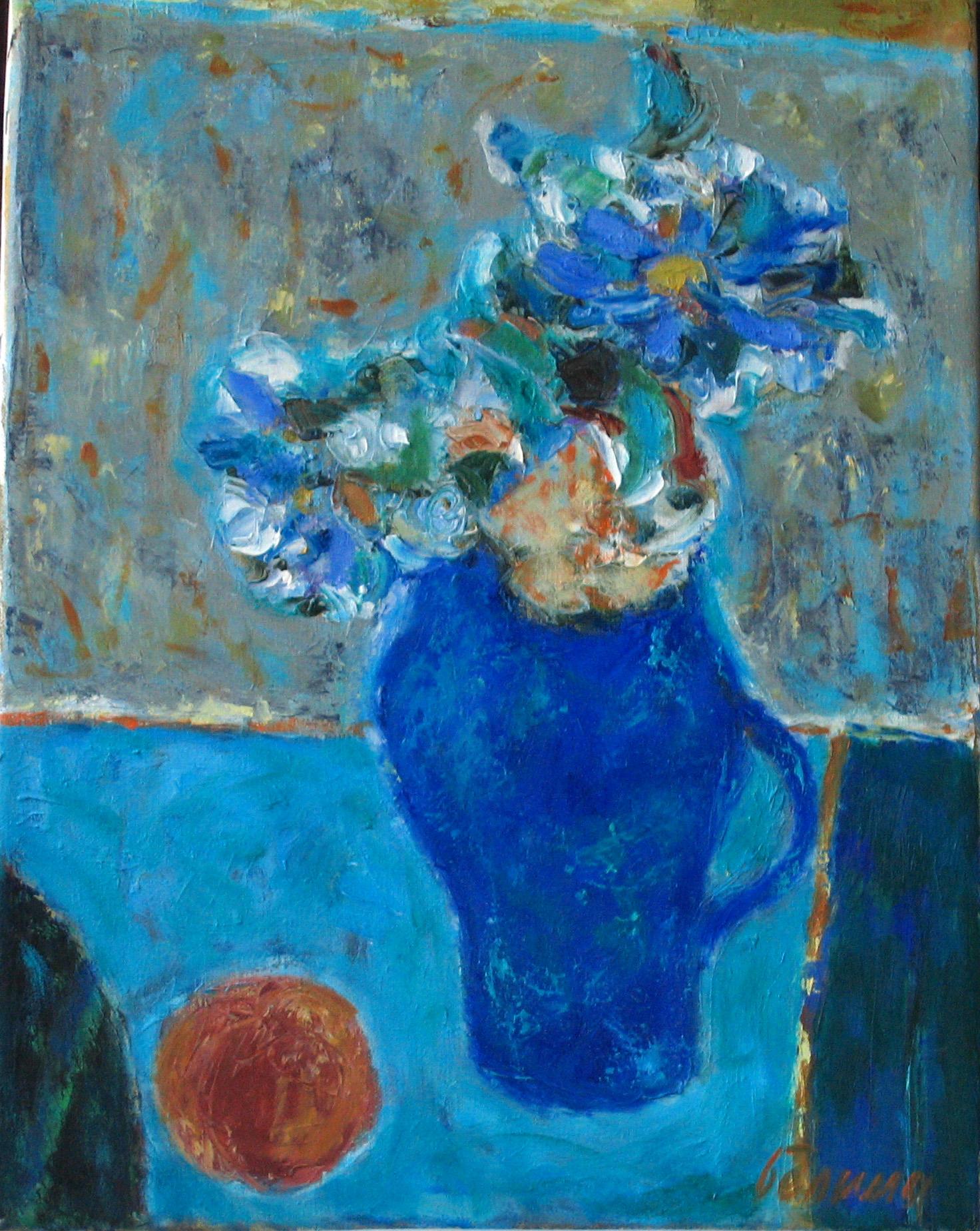 Синий букет 2011 г. х.м. 60х50 см