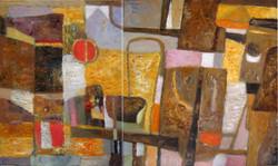 Азия 2011 г.  х.м. 90х160 см диптих