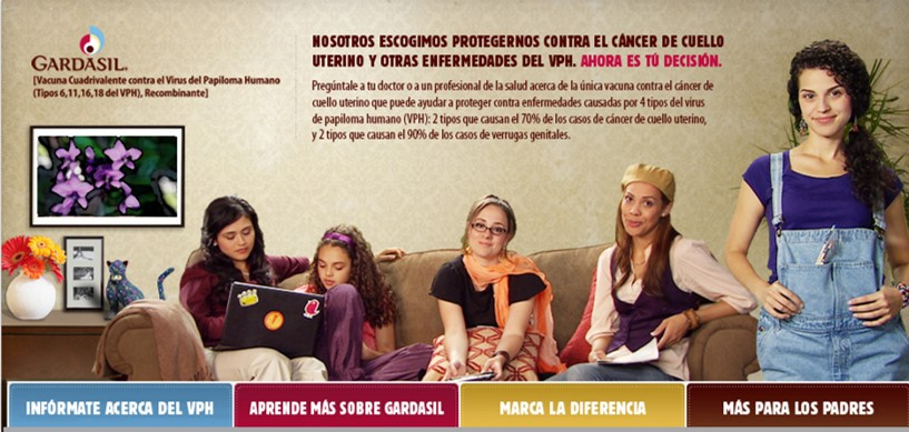 Merck - Gardasil In-language Website