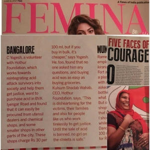 Femina India - 5 Faces Of Courage With Hothur Foundation