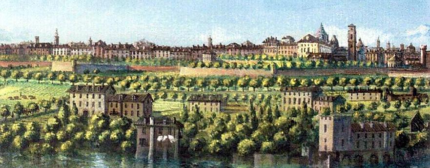 Luigi Vacca - veduta di Torino da nord