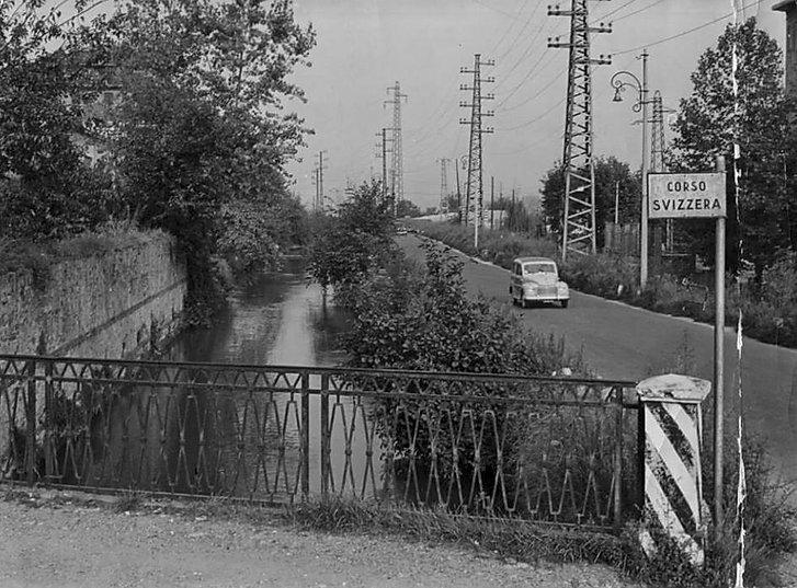 Canale della Pellerina in c.so Appio Claudio angolo c.so Svizzera - Torino