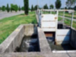 Bealera di Stra del portone: meccanismi di smistamento delle acque.