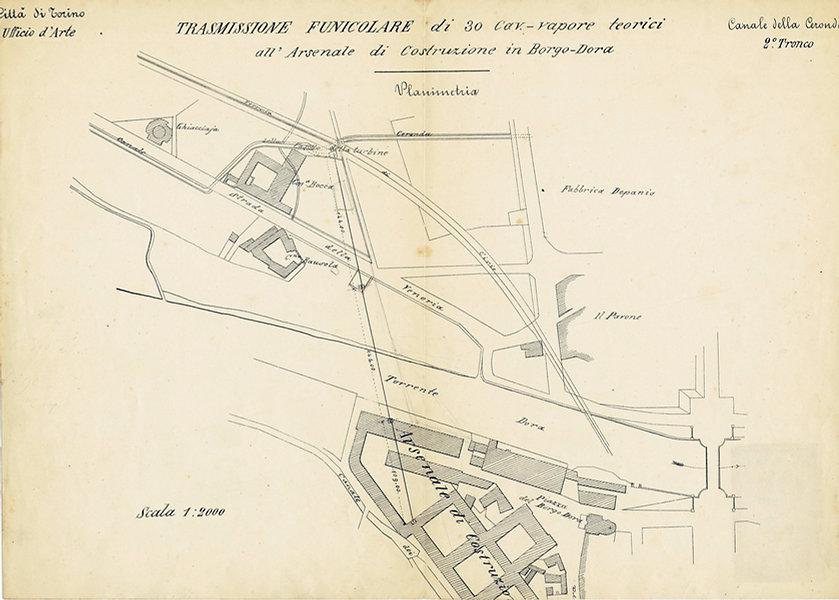 Trasmissone telodinamica Arsenale borgo Dora Torno canale Ceronda