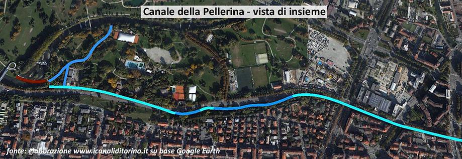 Tracciato canale della Pellerina Torino