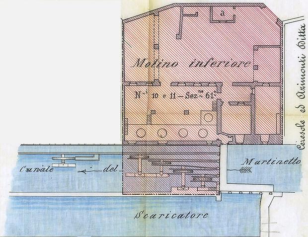 Planimatria del molino del martinetto inferiore Torino