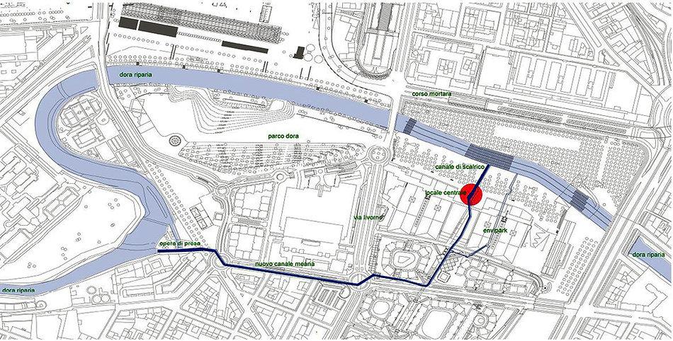 Planimetria canale centrale elettrica Environment Park
