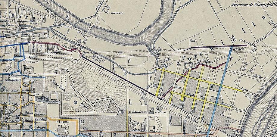 Il borgo di Vanchigklia nel 1860