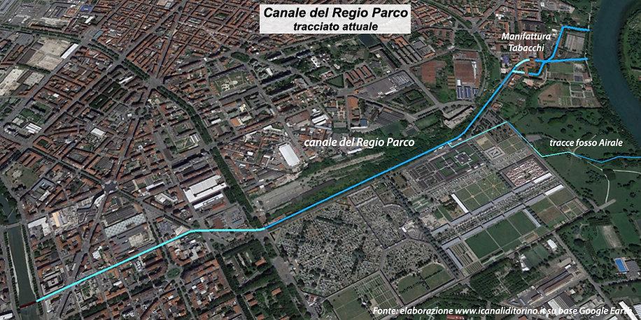 Canale del Regio Parco Torino assetto attuale