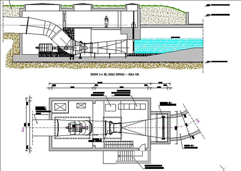 Schema centrale turbina - Mini Hydro Pellerina