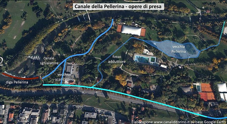 Canale della Pellerina Torino - operedi presa