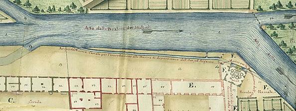 Opificio Grandis per la purgatura dell'oro sul canale dei Molassi