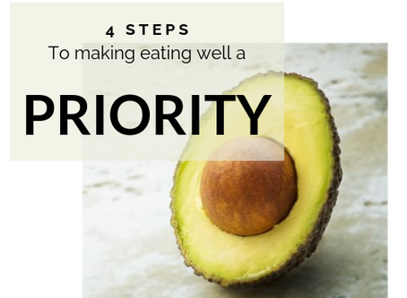 4 Steps to Making Eating Well a Priority