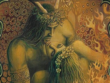 HAPPY BELTANE / The Goddess & The Green Man