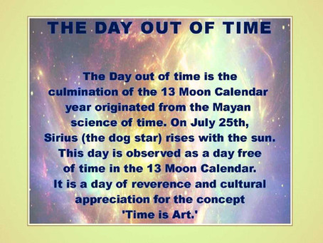 """White Magnetic Mirror: Day Out of Time  """"July 25, 2021"""" ~ Gillian MacBeth-Louthan"""